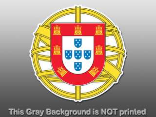 Portugal Crest Sticker  decal Coat Of Arms Portuguese