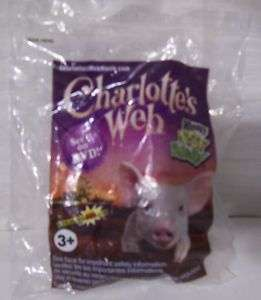 Wendys Kids Meal Toy~Charlottes Web   Gray Lamb~NIP