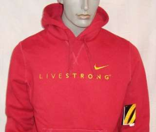 630) L Nike LiveStrong Performance Cotton Poly Hoodie