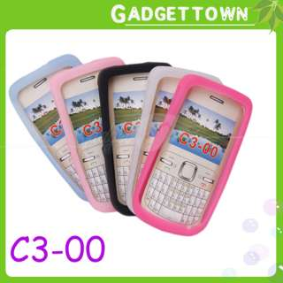 PC Silicone Case Soft Skin Cover for Nokia C3 00
