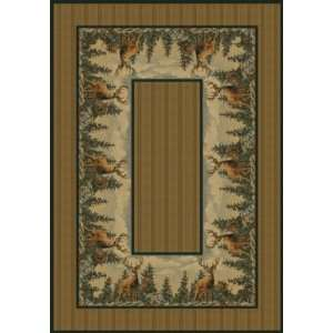 Deer Standing Proud Lodge Area Rug:  Home & Kitchen