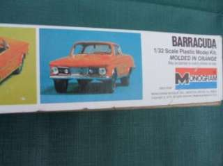 Vintage Monogram Plastic Model Kit 1965 Plymouth Barracuda Parts MoPar