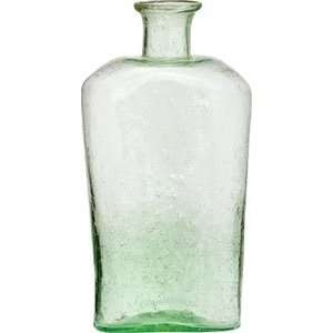 Light Green Recycled Glass Vase (flask design)