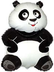 Panda Bear 34 Mylar Balloon Cuddly Cute Chinese Zoo Jungle Birthday