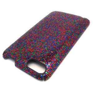 Apple iPOD TOUCH ITOUCH Blue Purple Pixel Scale Glitter