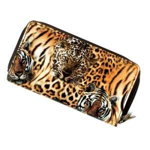 Big CAT Jungle Animal Print Womens CLUTCH WALLET~Tiger Stripes