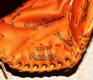 RBG90 Reggie Jackson and Wilson PRO450 Leather Baseball Gloves Used
