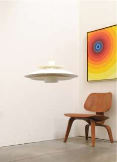Mid Century Danish Modern UFO Hanging Lamp Fixture Eames Era