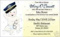 Custom Police Baby Shower First Birthday Invitations