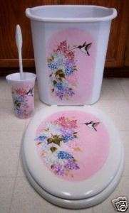HP HUMMINGBIRD ELONGATED TOILET SEAT/3 PIECE SET/SAVE$