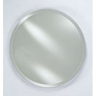RM 424 24 in.Radiance Round Frameless Wall Mirror Beveled