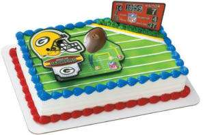 GREEN BAY PACKERS NFL CAKE DECORATION TOPPER NEW
