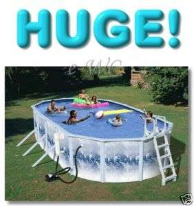 24x12x52 Oval Above Ground Swimming Pool Set in BLUE
