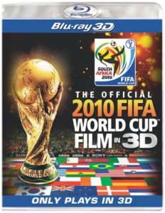 OFFICIAL 2010 FIFA WORLD CUP FILM New Blu ray 3D