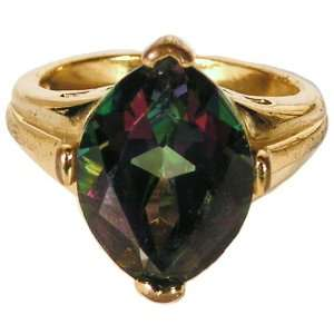 Mystic Topaz Gold Ring Size 6 Naga Land Tibet Sacred