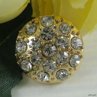 Sparkling Crystal Rhinestone Gold Buttons #G347