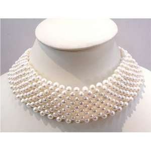 15 white freshwater pearl necklace choker Everything