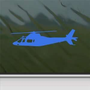 Agusta A109 Helicopter Blue Decal Truck Window Blue