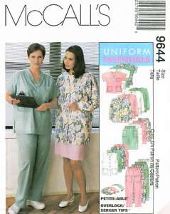 McCalls 9644 Plus Womens Scrubs Uniform Sewing Pattern