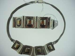 14K Gold And Sterling Silver Necklace & Bracelet Set107.3Grams