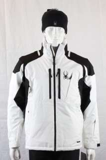 Spyder Mens CHALLENGER JACKET White / Black ski snowboard winter