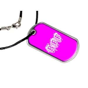 BFF   Best Friends Forever Pink   Military Dog Tag Black