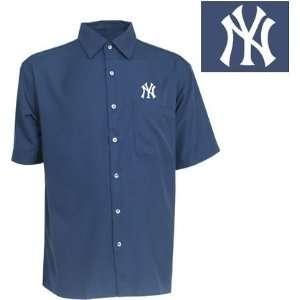 New York Yankees Premiere Shirt by Antigua   Navy Medium