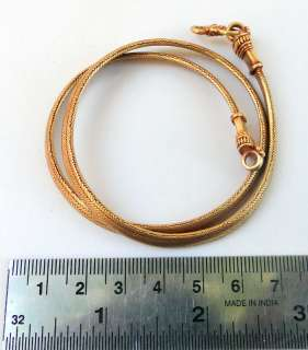 style 18 K SOLID GOLD FLAT ROPE CHAIN NECKLACE