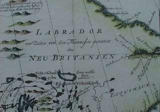 Map HUDSON BAY Labrador Canada James Bay Fort Rupert Ungava