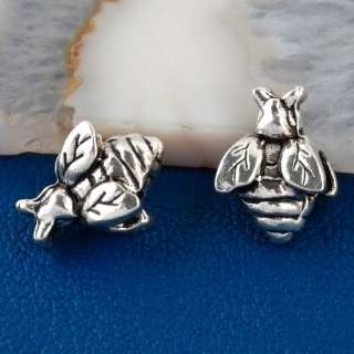 20PC TIBETAN SILVER HONEY BEE CHARMS BEADS FIT NECKLACE