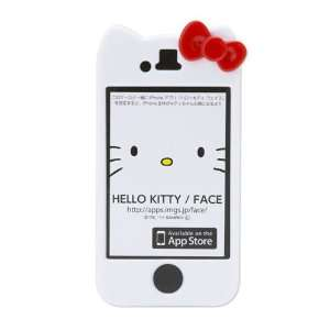 Character Hello Kitty Hard Case Cover iPhone 4 4S White