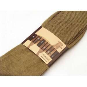 ALPACA CLASSIC SOCKS   1 PACK   LARGE   LIGHT CAMELL