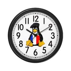 French Tux Linux Penguin Wall Clock by CafePress: Home