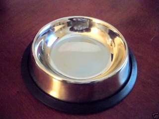 New Stainless Steel Dog Cat Food Water Bowl 8 oz. Dishes