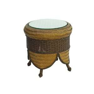 Suncoast Royal Palm Wicker 24 Round Patio End Table Patio