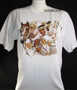 Indian Maiden Horse Western Southwest Clothing T Shirt