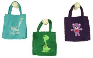 Felt Gift Bags With Unisex Theme Applique / Baby Shower & Party Favors