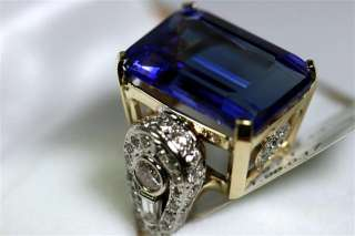 NATURAL 18.38ct TANZANITE & Diamond Ring END OF YEAR BLOW OUT