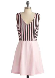 Cotton Candy Striper Dress  Mod Retro Vintage Dresses  ModCloth