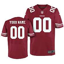 Mens Nike San Francisco 49ers Customized Elite Team Color Jersey (40