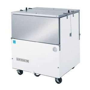 35 White Vinyl Dual Sided Milk Cooler  8 Crate Capacity Appliances