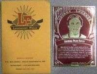 EMBOSSED FOIL CARD   HOCKEY MICHAEL DEAN BOSSY   PROMO CARD