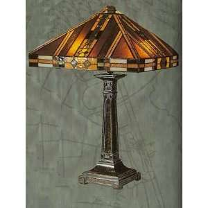 Mission Tiffany Table Lamp Fieldstone Color