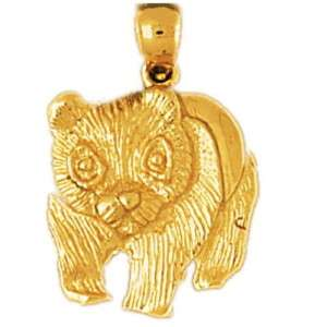 PANDA BEAR Pendant / Charm 14k Yellow Gold