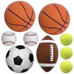 Play Ball Sports   Peel and Stick   20 Wall Stickers Decals