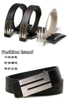 Mens Premium Stylish Fashion S Buckle PU Leather belt