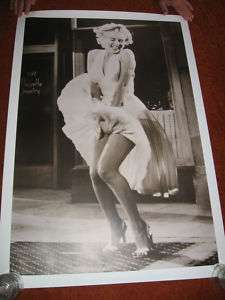 Marilyn Monroe POSTER #4  DRESS BLOWING UP sepia NICE