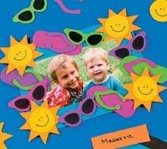 Summer Fun Photo Frame Magnet Craft Kit for Kids