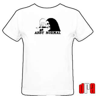 FRANKENSTEIN FELDMAN ABBY NORMAL UNOFFICIAL TRIBUTE CULT MOVIE T SHIRT