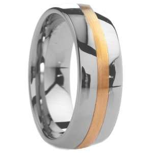 8 mm Mens Tungsten Carbide Rings Wedding Bands Raised